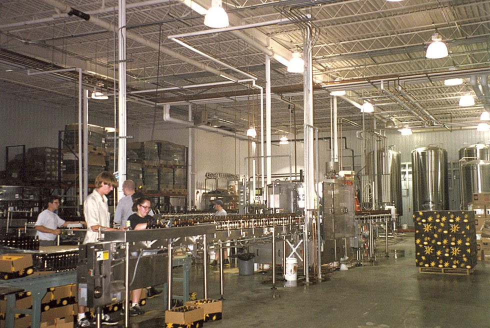 Magic Hat bottling line at the Bartlett Bay Road brewery - COURTESY