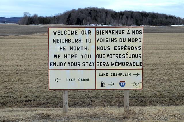A sign near the border - FILE: MARK DAVIS