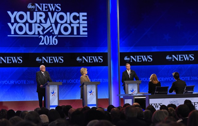 The Democratic presidential candidates debate in Goffstown, N.H. - ABC/ IDA MAE ASTUTE