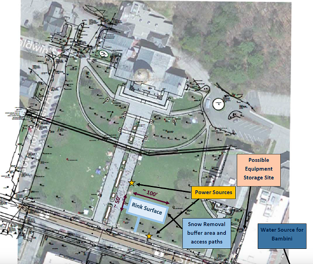 Proposed ice-skating rink for Statehouse lawn. - COURTESY