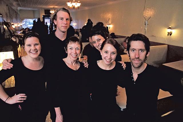 From left: Cori Conchieri, Grayson Crounse, Martha Snyder, Marya Vallejos, Hannah Sorkow and Peter Hedin - MATTHEW THORSEN