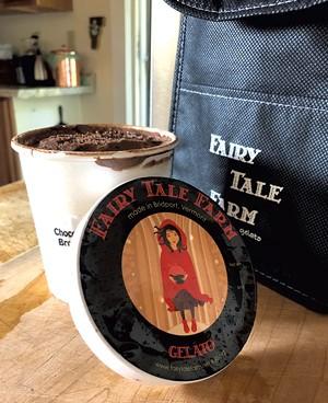 Chocolate brownie sheep's milk gelato from Fairy Tale Farm - JORDAN BARRY