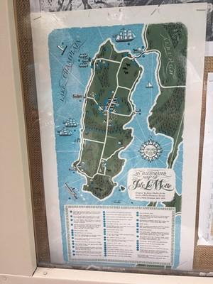 Isle La Motte map - PAULA ROUTLY