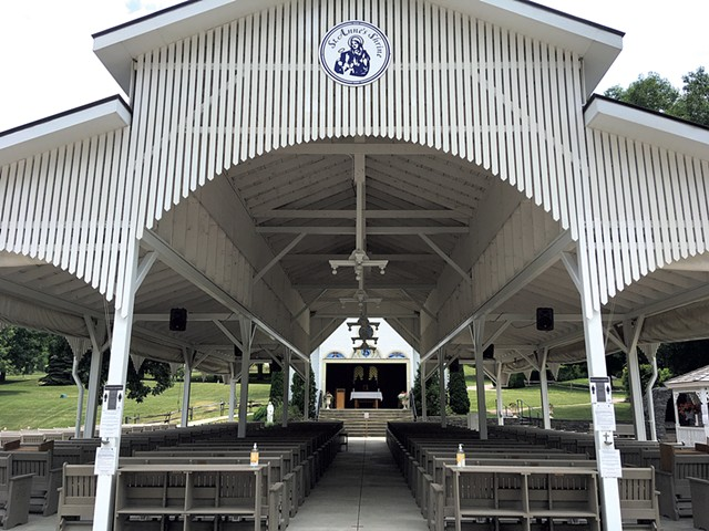 Open-air chapel at St. Anne's Shrine - PAULA ROUTLY