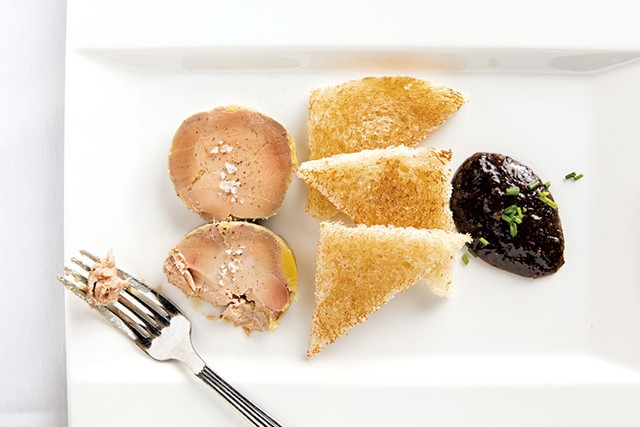 Foie gras torchon at Bistro de Margot - OLIVER PARINI