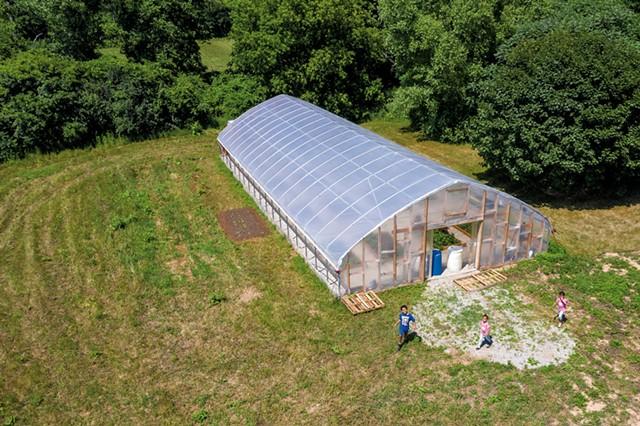 The Clemmons Family Farm's new hoop house - JAMES BUCK ©️ SEVEN DAYS