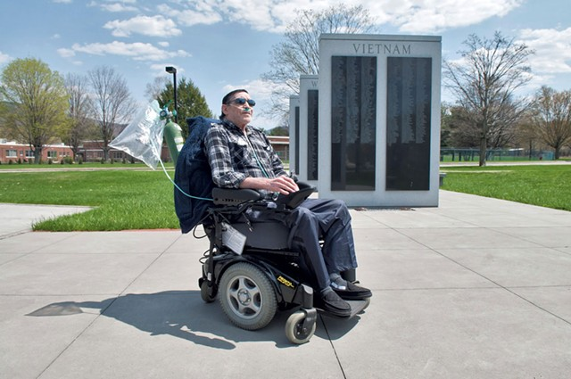Jack Tremblay on the grounds - of the Vermont Veterans' Home - ZACHARY STEPHANS