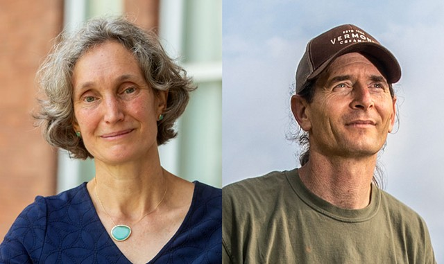 Rebecca Holcombe and David Zuckerman - JEB WALLACE-BRODEUR; JAMES BUCK