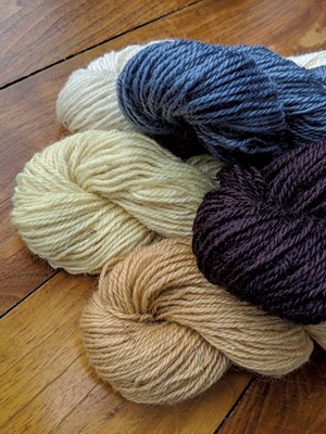 Yarn from Cloverworks Farm - COURTESY OF OPEN FARM WEEK