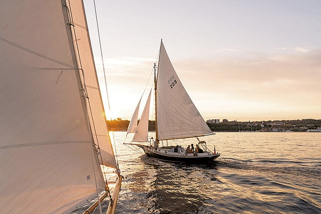 The Friend Ship and the Wild Rose in the Burlington harbor - COURTESY OF HANNAH LANGSDALE / WHISTLING MAN SCHOONER COMPANY