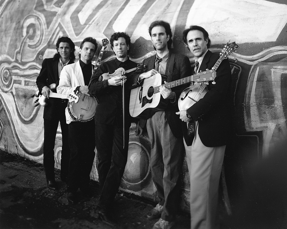 Breakaway (left to right): Peter Riley, Gordon Stone, Gene White, Andy Greene and Andy Sacher, 1991 - COURTESY OF LAURY SHEA