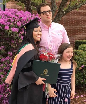 Cao at UVM graduation with her family - COURTESY OF VY CAO