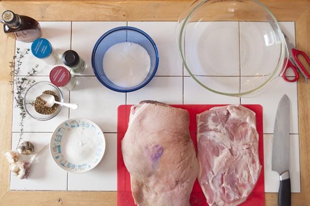 Pork jowl, salt, spices, sugar - HANNAH PALMER EGAN