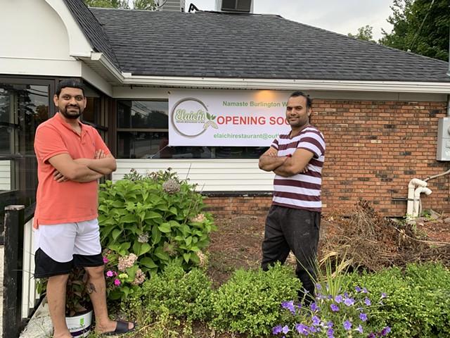 Priyank Shah (left) and Sikander Badhan co-own Elaichi Indian Restaurant & Bar - MELISSA PASANEN ©️ SEVEN DAYS