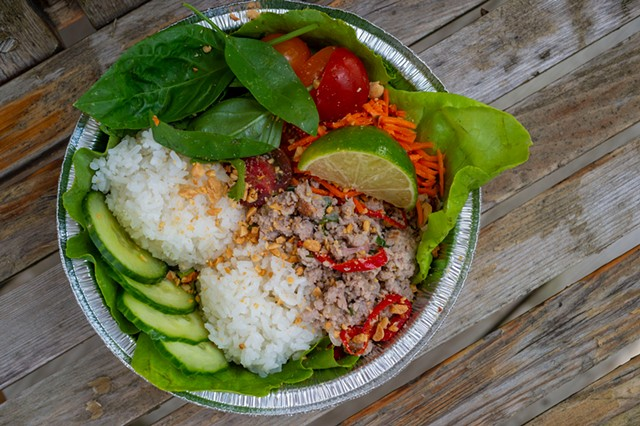 Pork larb from the Craftsbury General Store - JEB WALLACE-BRODEUR