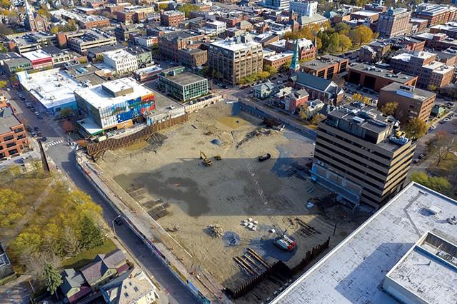 CityPlace Burlington construction site - FILE: JAMES BUCK ©️ SEVEN DAYS