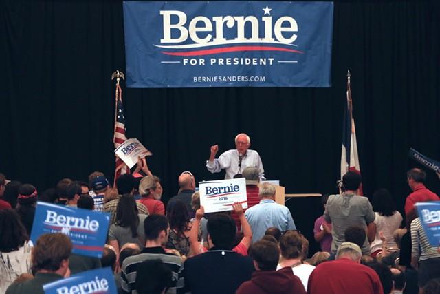 Sen. Bernie Sanders campaigns in Iowa in July 2015 - FILE: DEBRA KAPLAN