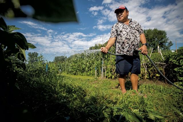 Harka Rai on a New Farms for New Americans plot - FILE: JAMES BUCK