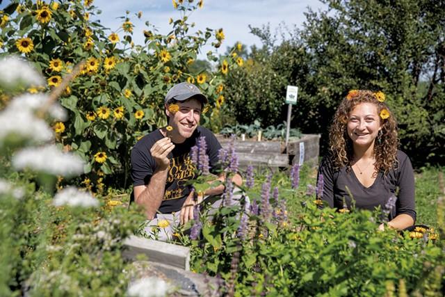 Benjy Adler and Sammy LeVine at the Intervale community gardens - JAMES BUCK