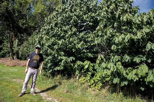 Benjy Adler at the Intervale community gardens - JAMES BUCK