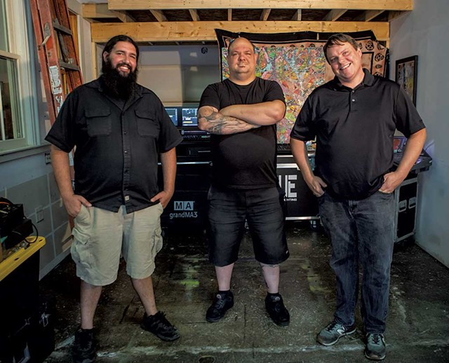 From left: Josh Rowe, Kyle Rose and Jason Liggett of Satellite Arts Productions - LUKE AWTRY
