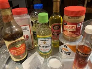 Ingredients for Five Spice Cafe sesame peanut noodles - MELISSA PASANEN ©️ SEVEN DAYS