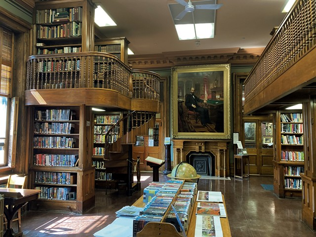 The St. Johnsbury Athenaeum library - MARGARET GRAYSON ©️ SEVEN DAYS