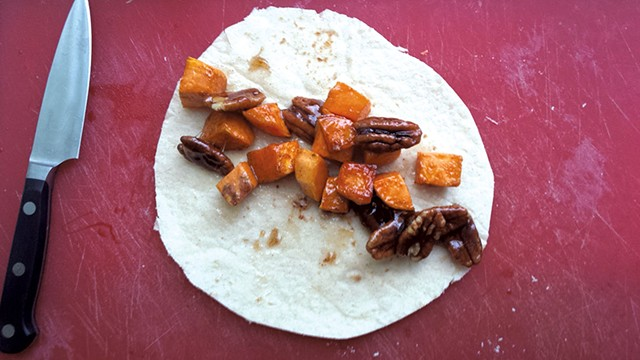 Sweet-potato-and-pecan taco - MELISSA HASKIN