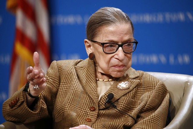 Ruth Bader Ginsburg earlier this year - AP PHOTO/PATRICK SEMANSKY