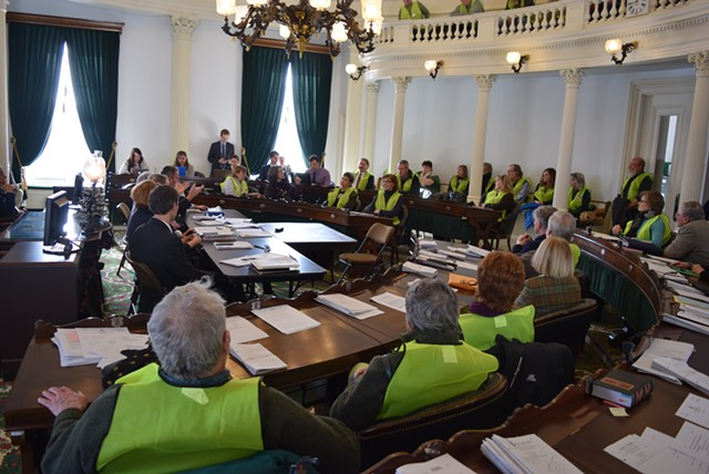 Wind and solar siting opponents filled the Senate chamber. - TERRI HALLENBECK