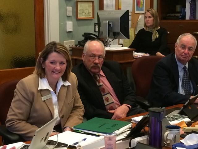 Reps. Diane Lanpher, Robert Helm and Chuck Pearce - NANCY REMSEN