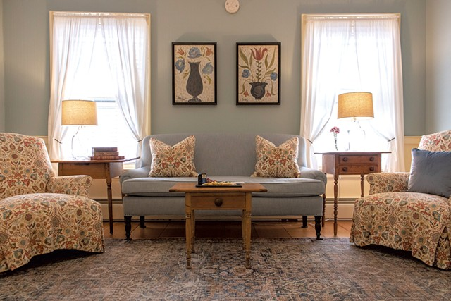 The spacious living room in the Innkeeper's Suite - COURTESY OF THE GRAFTON INN
