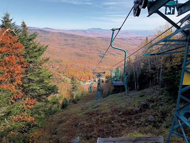 Foliage Lift Ride at Mad River Glen - COURTESY OF MAD RIVER GLEN