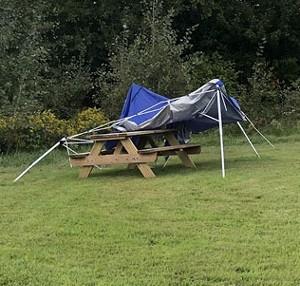 Tent fail at Bellows Free Academy Fairfax - COURTESY OF SAYBRA VARISANO