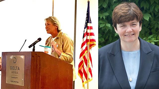 Carolyn Whitney Branagan (R) and Beth Pearce (D) - COURTESY
