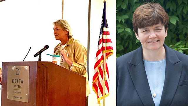 Carolyn Whitney Branagan (R) and Beth Pearce (D) - COURTESY