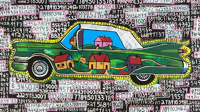 """Lotto: The American Dream"" by Luis Cruz Azaceta - COURTESY OF FLEMING MUSEUM OF ART"
