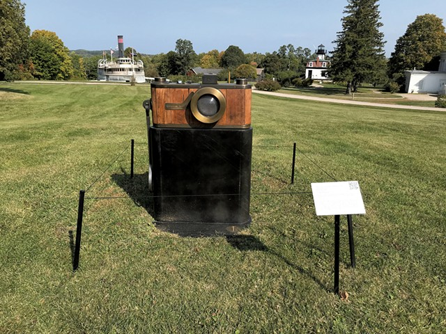 """Luxus Camera"" by Peter Kirkiles in Shelburne Museum's ""At Scale"" exhibition - SALLY POLLAK ©️ SEVEN DAYS"