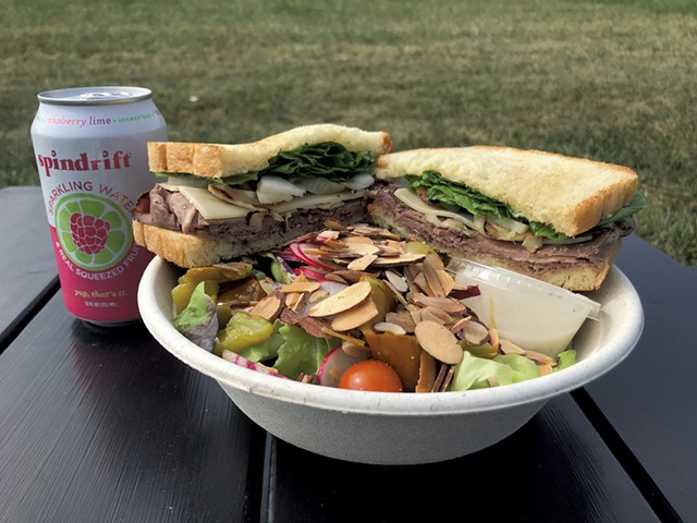 Lunch at Philo Ridge Farm - SALLY POLLAK ©️ SEVEN DAYS