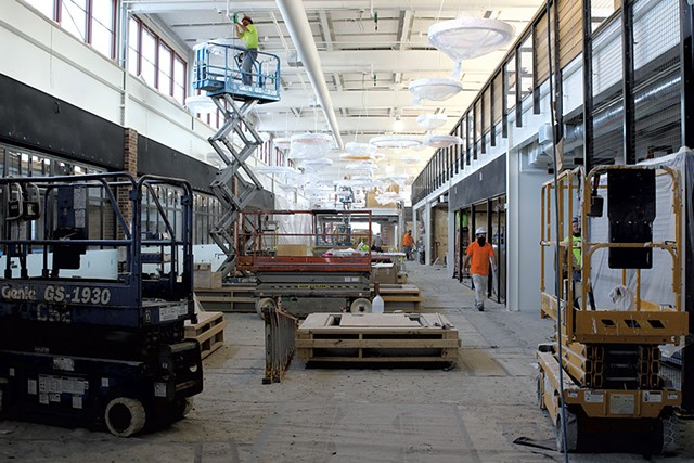 Inside Building 50 on the Hula campus - COURTNEY LAMDIN ©️ SEVEN DAYS