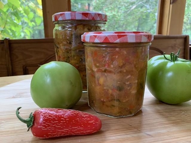 Green tomato salsa - MELISSA PASANEN ©️ SEVEN DAYS