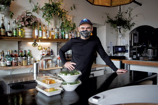 Lee Anderson at C'est Ça's to-go counter - JAMES BUCK