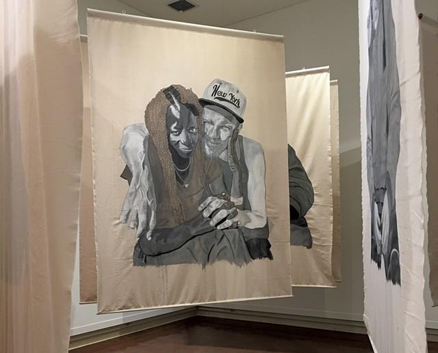 "Installation view of ""552,830"" by Steven Kinder - PAMELA POLSTON ©️ SEVEN DAYS"