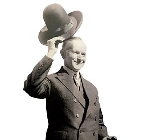 Poster of president Calvin Coolidge - PAMELA POLSTON ©️ SEVEN DAYS