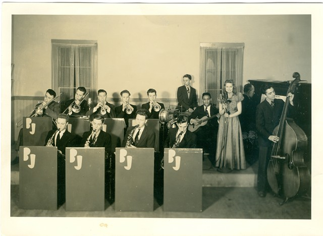 The Blue Jackets, a Northfield dance band in which Robert Cole played guitar, circa 1934 - COURTESY OF NORTHFIELD HISTORICAL SOCIETY