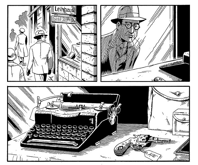 Panels from 'Berlin' by Jason Lutes - COURTESY OF NORMAN WILLIAMS PUBLIC LIBRARY