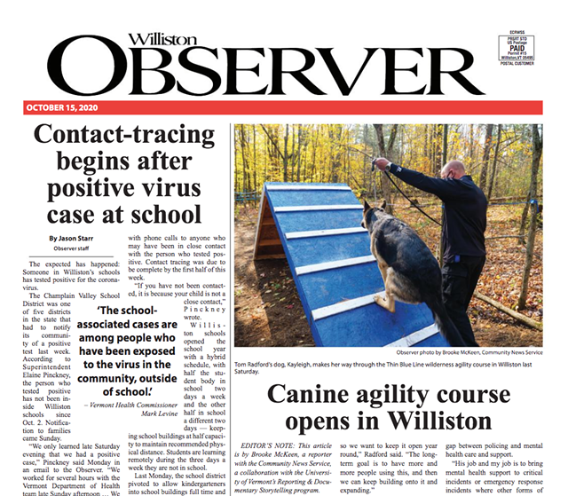 The latest issue of the Williston Observer - SCREENSHOT