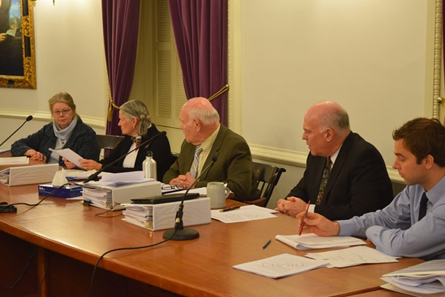 The Senate Judiciary Committee prepares to vote on marijuana legalization. - TERRI HALLENBECK