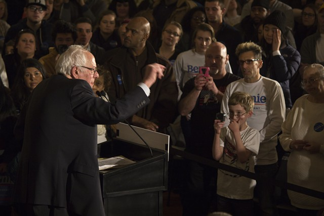 Sen. Bernie Sanders Friday in Davenport - MATTHEW TERRY