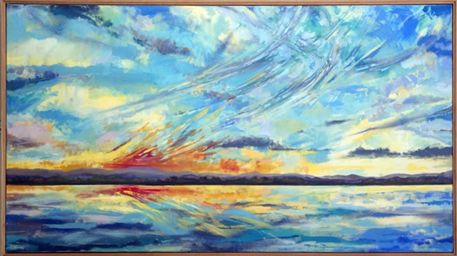 """""""Panoramic Sky Over Shelburne Bay"""" by Katharine Montstream - JEB WALLACE-BRODEUR"""